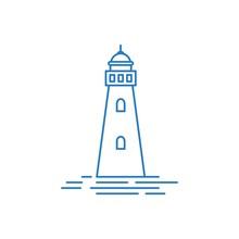 Lighthouse And Building Logo Illustration