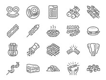 Bacon Line Icon Set. Included ...