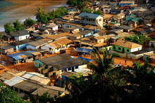 View Over A Fishing Village (Butre) In Ghana