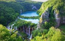 Beautiful View Over Plitvice Lakes, Croatia