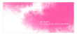 Watercolor template banner. Pink, red paint splash. Delicate and subtle sun rays. Vector illustration. Ethereal colors. Free copy space. Colorful, textured background. Magenta clouds.