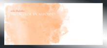 Orange Watercolor. Banner With Free Space For Your Graphics, Subtitles. Red And Peach Colors Illuminated By The Rays Of The Bright Sun. Vector Illustration Delicate And Subtle, Ethereal.