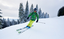 Skier Man Backcountry Skiing O...