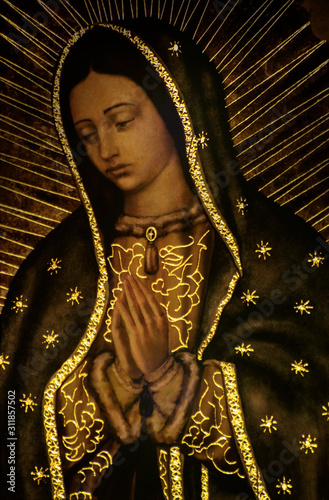 Virgin Mary Guadalupe México. Canvas Print