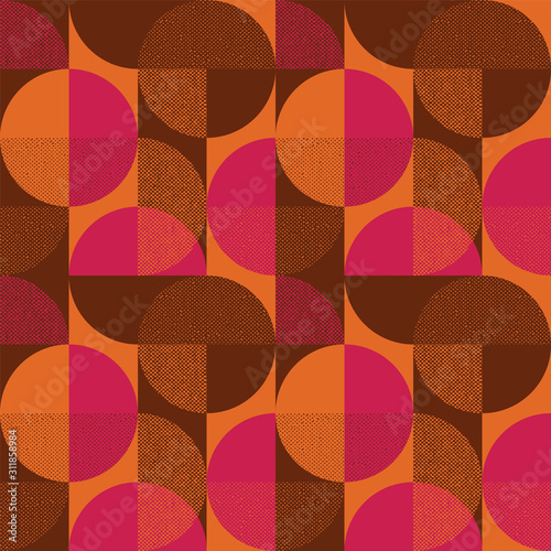 Abstract round shape seamless pattern Wallpaper Mural