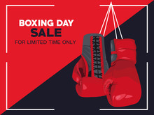Boxing Day Sale Poster With Gl...