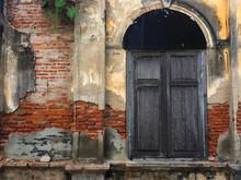 Old Door And Window Of Brick B...