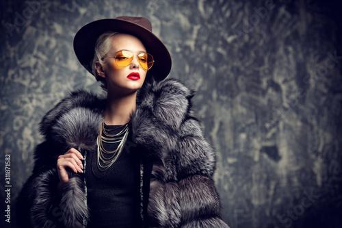 charming stylish lady