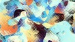 Transforming abstract background. Psychedelic wavy animated abstract curved shapes. Looping footage.
