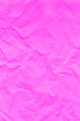 canvas print picture - Pink crumpled wrinkled textured paper background.