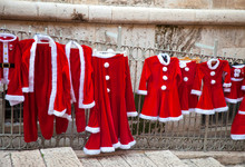 Adult And Children's Christmas And New Year Costume Sale - Red Santa Coats