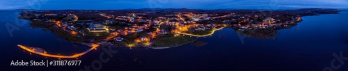 Photo Aerial view of the skyline of Dungloe in County Donegal - Ireland