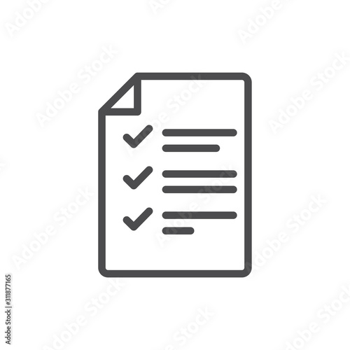 Cuadros en Lienzo  In Compliance Icon with paper, checks & list