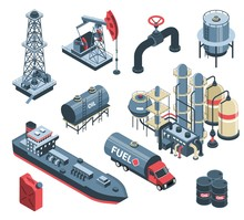 Oil Production Isometric Set