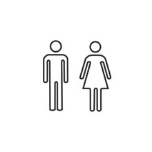 Man And Woman Toilet Icon Vector Illustration For Website And Graphic Design Symbol