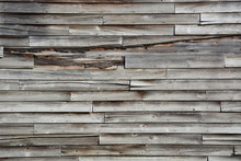 Weathered Wood Siding On An Ab...