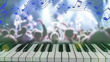 Music Theme Credit Announcement Header Keyboard Shoiw