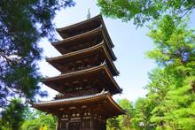 Five Storied Pagoda At Ninnaji...