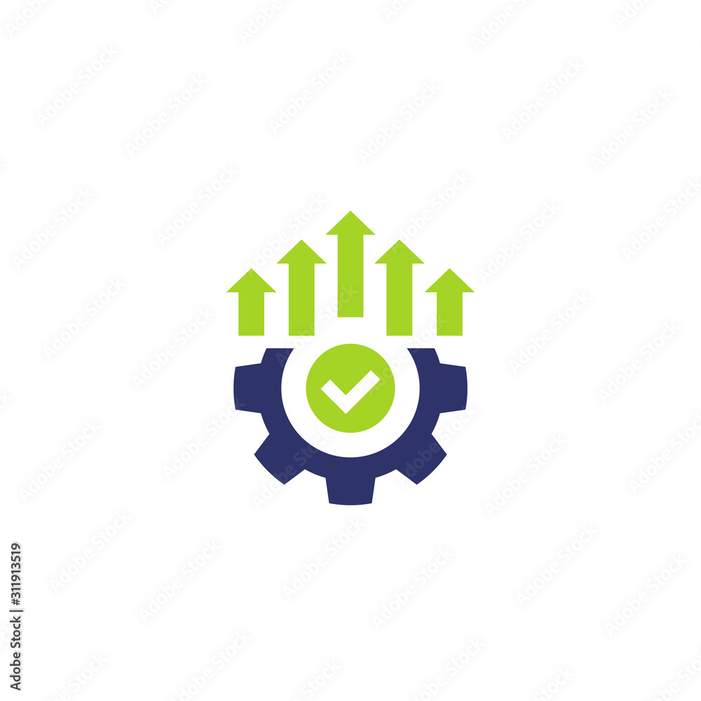 Fototapeta efficient production and efficiency icon