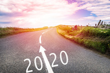 New Year 2020 Ahead. Conceptua...