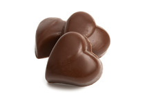 Chocolate Hearts Isolated