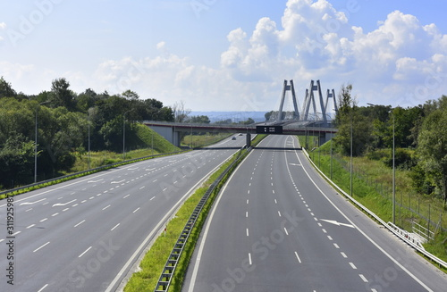 Fototapeta Droga krajowa S7 obwodnica Krakowa obraz