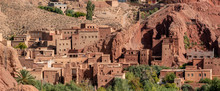 Morocco, Traditional Houses Along The Dades Valley In Ait Ben Ali