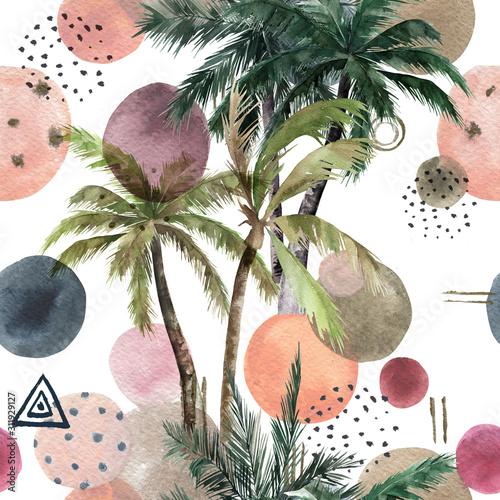streszczenie-tropikalny-wzor-z-palmami-akwarela-bez-szwu-wydruku-geometryczne-lato-tlo