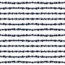 Indigo Chevron Vector Seamless Pattern.