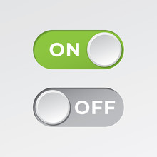 On And Off Toggle Switch Butto...