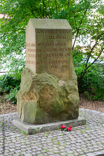 "Memorial ""Unforgotten homeland: East and West Prussia, Pomerania – East Brandenb Wallpaper Mural"