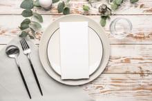Beautiful Table Setting With E...
