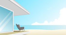 Vector Of One-story Vacation H...