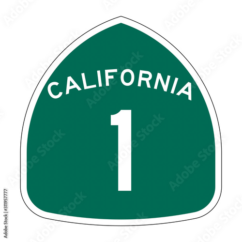 California state route 1 sign  Fototapete