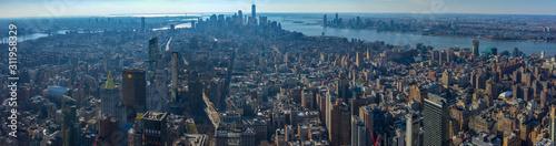 New York City Manhattan skyline panorama and cityscape Canvas Print
