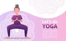 Web Banner For Yoga Studio Wit...