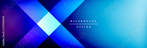Fototapety, obrazy: Abstract background - squares and lines composition created with lights and shadows. Technology or business digital template