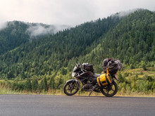 Traveling Motorcycle With Fogg...