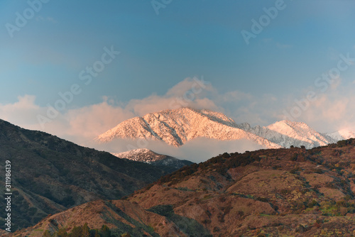 Afternoon light on the San Gabriel Mountains after a winter's snowfall