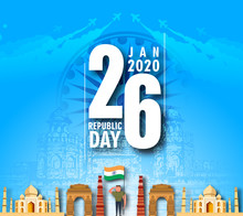 Indian Republic Day Concept Background, Vector Illustration