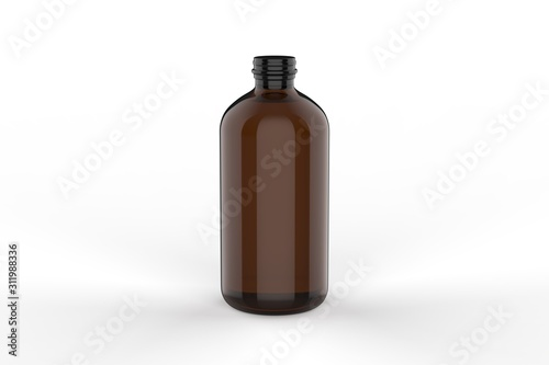 Valokuvatapetti Blank Cocktail  Classic Tonic Syrup For Branding, 3d render illustration