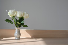 White Rose Blossom Decoration ...