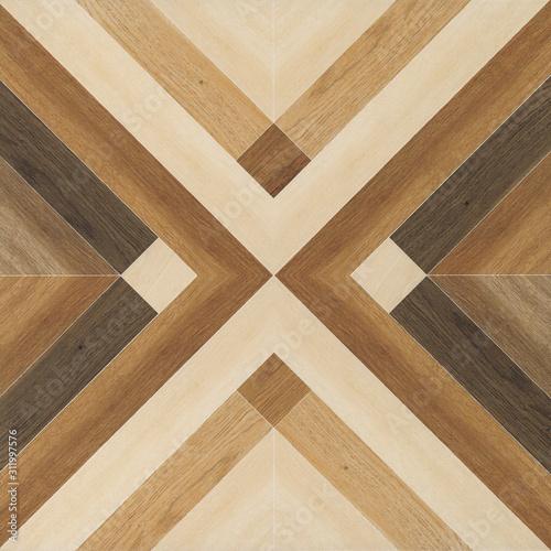 Fototapeta Wood texture background, X shaped, seamless pattern, Geometric wooded tile obraz na płótnie