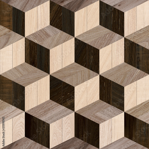 Fototapeta drewno  abstract-home-decorative-wooden-wall-and-floor-design-background-3d-shape-wooden-backgrou