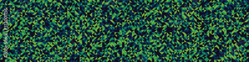 obraz dibond Seamless pattern with random colored triangles Generative Art background illustration