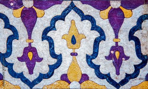 Fototapeta Geometric mosaic pattern of the Mughal empire  obraz