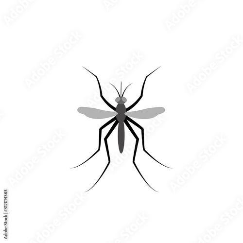 Insect mosquito bloodsucker vector illustration Wallpaper Mural