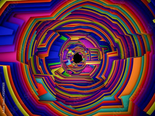 Fototapeta  Abstract Striped Design