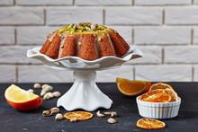 Pumpkin Carrot Bundt Cake On A Stand