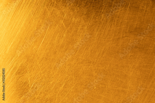 Obraz Real gold scratched metal texture - fototapety do salonu